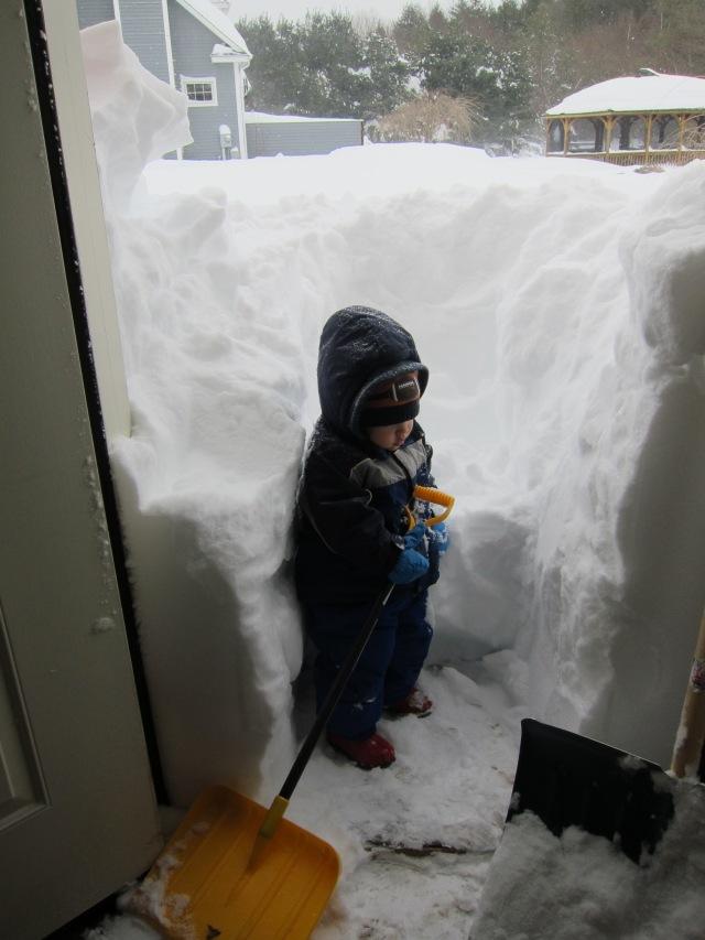 So we shoveled...