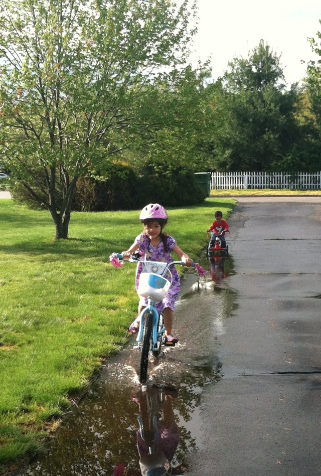 Bike Laps in Puddles